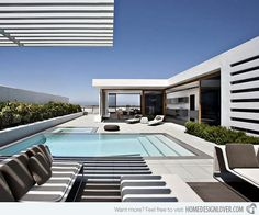 modern beach house exteriors | Indeed this area provides comfort and peace of mind when the client ...