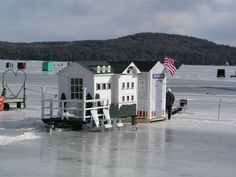 Ice Shanty Inspirations for a Comfy Ice Fishing Trip - Go Travels Plan Ice Fishing Shanty, Ice Shanty, Gone Fishing, Best Fishing, Fishing Shack, Ice Fishing House, Ice Houses, Fish House, Fishing Techniques