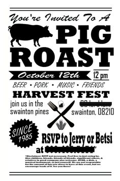 pig roast invitation template free thevillas co