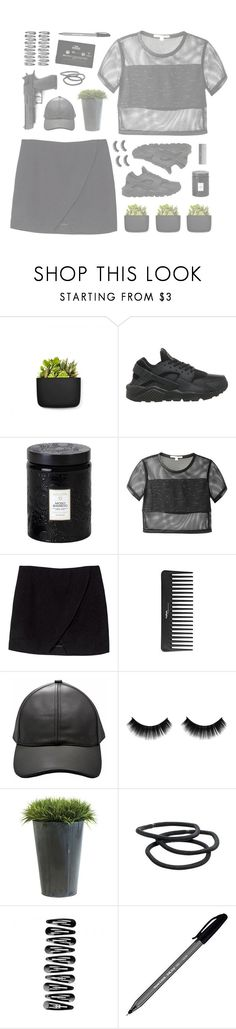 """""""Plant"""" by andreaset ❤ liked on Polyvore featuring Normann Copenhagen, NIKE, Voluspa, Jonathan Simkhai, Sephora Collection, Ethan Allen, Goody, CASSETTE, Paper Mate and black"""