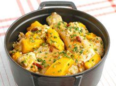 Avec les lectrices reporter de Femme Actuelle, découvrez les recettes de cuisine des internautes : Cocotte de poulet à la mangue