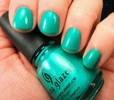 China glaze- turned up turquoise