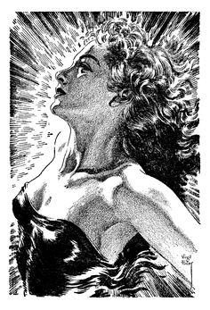modernizor:The Time Tombs by Virgil Finlay from the March, 1963