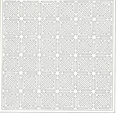chinese lattice design coloring page