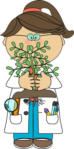 Scientist with a Plant