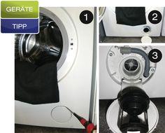 Gerätetipp: Flusensieb in der Waschmaschine wechseln