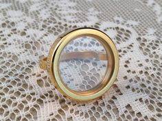 1  Rose Gold Floating Locket Charm Ring by KaysvilleCraftSupply, $10.00
