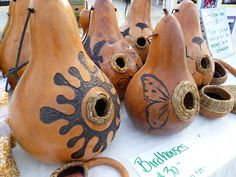 gourd bird house. these last years if you keep them cleaned out every year. and so pretty