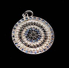 Sidney-Evan-LARGE-WHITE-GOLD-EVIL-EYE-DISC-14k-White-amp-Black-Diamonds-Sapphires