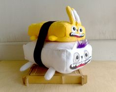 Rabbit Tamago Sushi cat  bigger size  by zeropumpkin on Etsy
