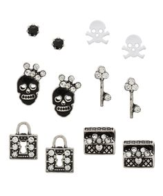 Pirate Princess Earrings Set - Black and White from Glint & Gleam via Shop Lately
