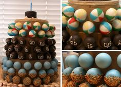 Beach ball cakepops! Make them pink, green, purple and orange Lay them in a tray of 'sand' brown sugar, gummy sharks/gummy fish and maybe sea shells.