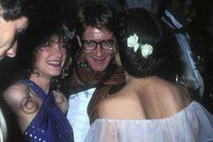 Loulou de la Falaise, Yves Saint Laurent et Bianca Jagger le 11 Juin 1977.