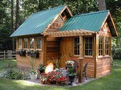 backyard house...I like the landscaping around it!
