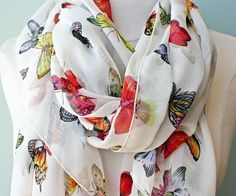 Petite Butterfly Silk Scarf - Augusta Twenty