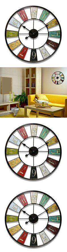 household items: Wall Clock 24 Large And Big Steel Frame Decor Art Home Kitchen Office Modern Hot -> BUY IT NOW ONLY: $60.42 on eBay!
