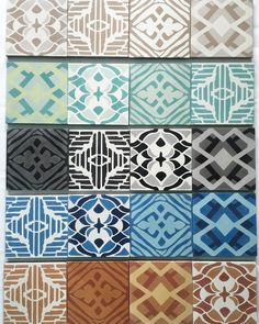 Do you want to make your own #patchwork #cementtile walls or floors? Select a color coconut teal black blue or cooper and all the patterns are included in our patchwork sets. Let the fun begin.  #madetoorder #maleneb #malenebdesign #malenebtile #interiors #tiledesign #carpetdesigner #nyc #nycdesigner #nycdesign #moderntile #interiordesign #interiordesigner by malenebcarpets