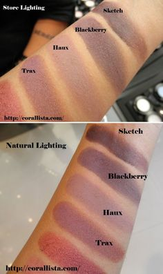 MAC EYESHADOWS :: Want all 4...Sketch, Blackberry, Haux & Trax. Love these kinds of colors! | #maceyeshadows #corallista