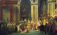The Consecration of the Emperor Napoleon and the Coronation of Empress Joséphine on December 2, 1804 by Jacques Louis David, Louvre.