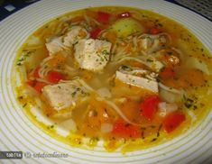 'Peasant' pork and vegetables soup recipe Vegetable Soup Recipes, Romanian Food, Bowl Of Soup, Some Recipe, Soups And Stews, Soul Food, Food To Make, Food And Drink, Cooking Recipes