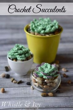 Cheap Crafts To Make and Sell - Crochet Succulents - Inexpensive Ideas for DIY Craft Projects You Can Make and Sell On Etsy, at Craft Fairs, Online and in Stores. Quick and Cheap DIY Ideas that Adults and Even Teens Can Make on A Budget http://diyjoy.com/cheap-crafts-to-make-and-sell