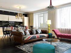 kleines wohnzimmer einrichten einbauschränke wandregal couchtisch ... - Farbe Gold Einrichtung Reihenhaus Modern