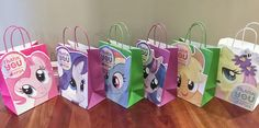 My Little Pony Birthday Party Favour Bags - free template
