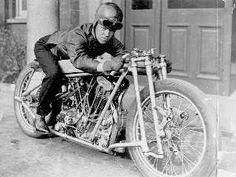 Joe Wright OEC Temple JAP Brooklands motorcycle Land Speed Record photo