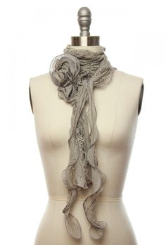 gauzy gray scarf $9.99