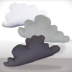 Cloud pillows Set of three White lightgray by LaPetiteEcharlotte, via Etsy. Cloud Cushion, Cloud Pillow, Pillow Set, Pillow Talk, Handmade Soft Toys, Handmade Crafts, Cloud Bedroom, Lego House, Textiles
