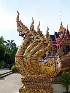 King of Nagas in Nang Sao Temple, Samut Sakhon, Thailand