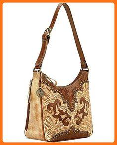 9199629 American West Women's Annie's Secret Purse - Cream - Shoulder bags (*Amazon Partner-Link)