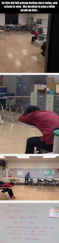 This Is Why You Should Never Fall Asleep In Class - 4 Pics: