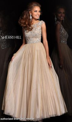 Prom Dresses 2014 - Sherri Hill 2984 Sleeveless Ballgown PERFECT HIGH NECK AND FLOWY PROM DRESS!