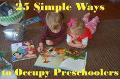 25 Simple Ways to Occupy a Preschooler (In Lieu of Preschool)
