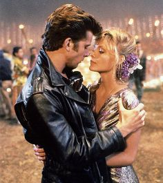 Maxwell Caulfield and Michelle Pfeiffer in 1982's Grease 2.