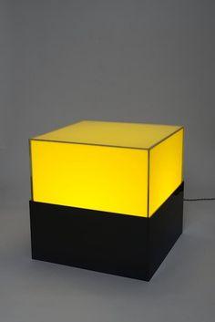 Orsina Sforza, 2013, cubo giallonero, (edizione di 36) plexiglass, cm 51,2x51,2x51,2
