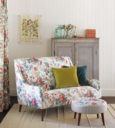 Traditional upholstered chair | Chelsea Fabric by Sanderson | Jane Clayton