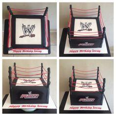 WWE WRESTLING RING CAKE Wwe Wrestling Ring, Crocodile Cake, Cupcake Cakes, Cupcakes, Ring Cake, Cake Creations, Cake Ideas, Birthday Ideas, Toddler Bed