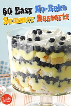 50 Easy No-Bake Summer Desserts
