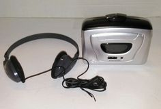 Duraband Cassette Player Deluxe Stereo Headphones Bass Boost Auto Stop 820M Used #Durabrand