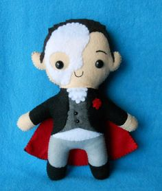 phantom of the opera plush. custom orders: http://www.etsy.com/shop/deadlysweetplushes