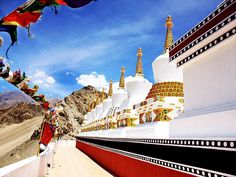 The 9 Stupas at Thiksey Monastery