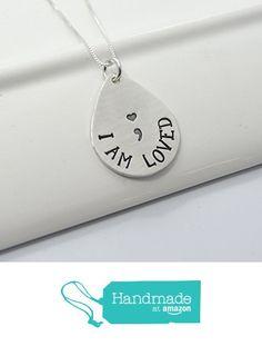 I Am Loved Semicolon Inspirational Necklace   Suicide Awareness Necklace from DesignMe Jewelry http://www.amazon.com/dp/B01DIE83XK/ref=hnd_sw_r_pi_dp_uz2uxb070PTWJ #handmadeatamazon