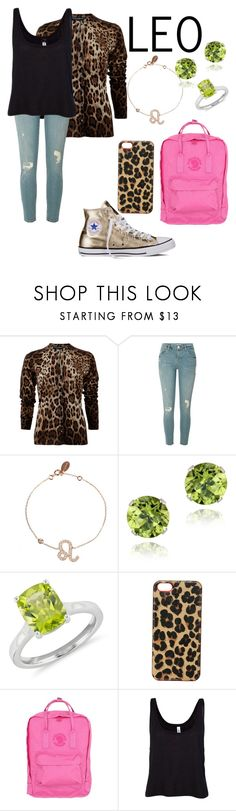 """""""Leo"""" by ninellaah ❤ liked on Polyvore featuring Dolce&Gabbana, River Island, Glitzy Rocks, Blue Nile, Lucky Brand, Fjällräven, B. Ella and Converse"""