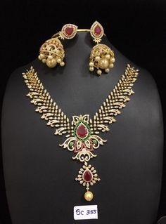 Grand AD Stones Necklace 3000 to 4500