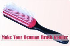 Modify Your Denman Brush To Make It Gentler On Your Hair - http://www.blackhairinformation.com/general-articles/modify-denman-brush-make-gentler-hair/
