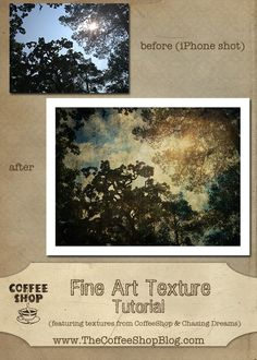 The CoffeeShop Blog: CoffeeShop Tutorial: From iPhone Snapshot to Fine Art Using Textures