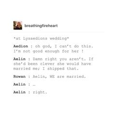 I take it the creator of this post shipped Lysaelin?
