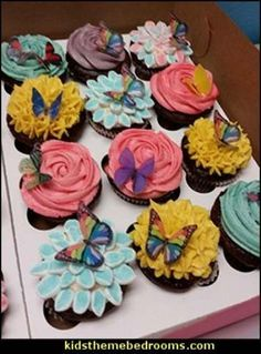 Edible Butterflies fairy birthday party fairy decorations – Fairy party supplies - All About Gardens Fairy Garden Cake, Butterfly Garden Party, Butterfly Birthday Party, Fairy Birthday Party, Garden Birthday, Birthday Party Themes, Party Garden, Garden Wedding, Garden Parties